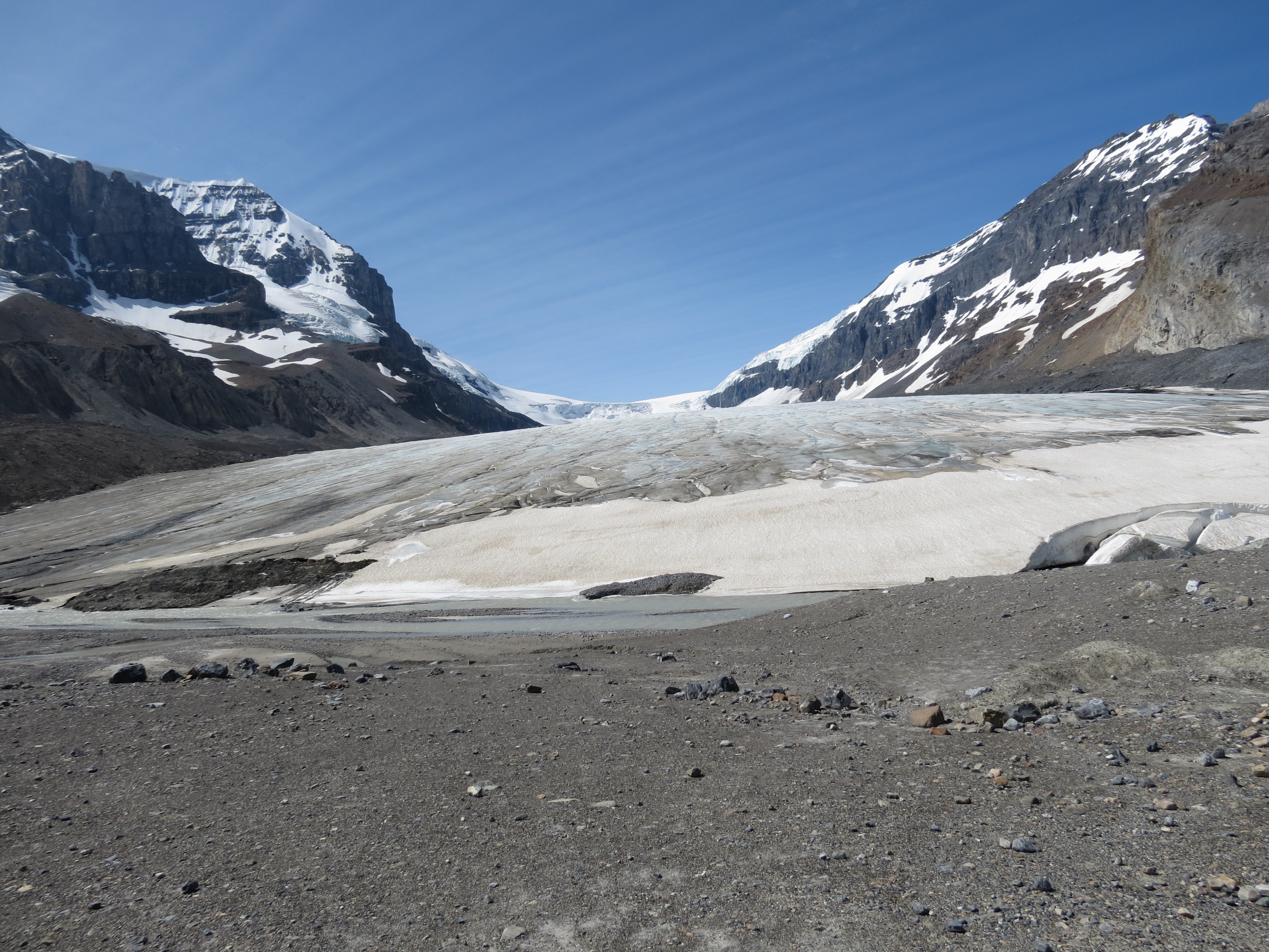 A Peak Into The Ice Age Athabasca Glacier The