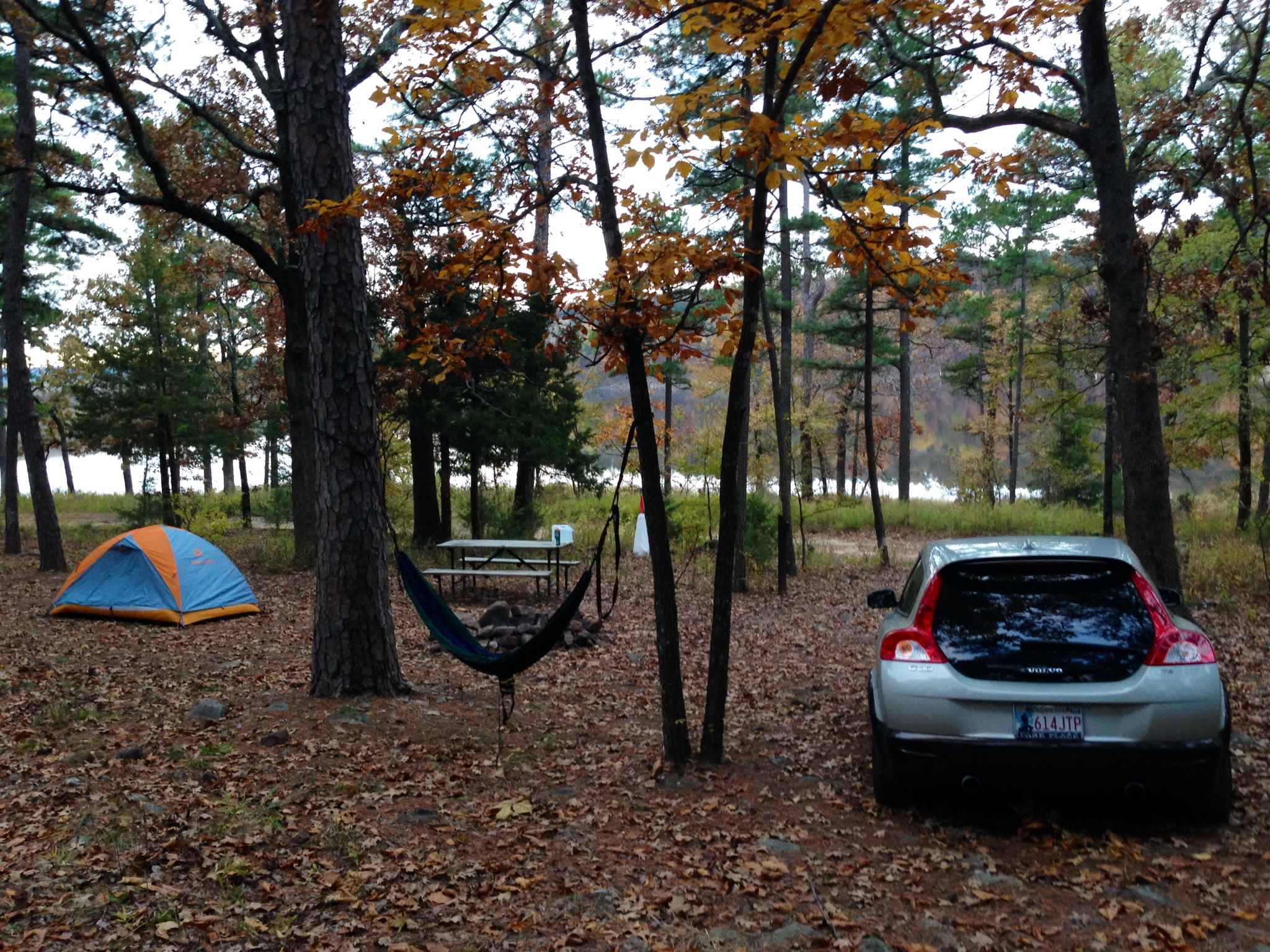Camping out at Robbers Cave State Park – the meandering mates